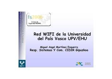Red WIFI de la Universidad del País Vasco UPV/EHU - EHUtb