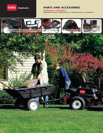 PARTS AND ACCESSORIES - Brand New Mowers
