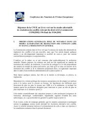 Conférence des Notariats de l'Union Européenne ... - CNUE