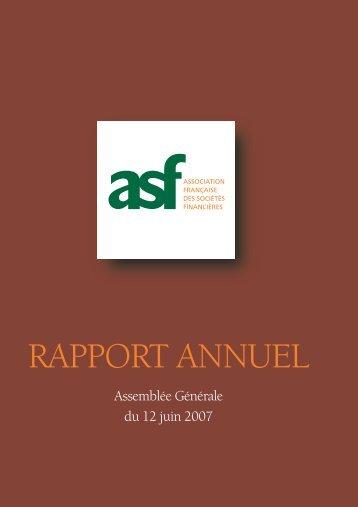 2006 Le rapport annuel de l'ASF - ASF - Association Française des ...
