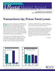 Rental Market Report - Toronto Real Estate Board