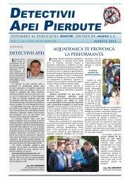 Detectivii Apei Pierdute nr. 3, anul 2 / martie 2012 - Aquatim
