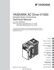 Yaskawa V1000 Manual - Northern Industrial