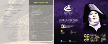 36 Festival de Teatro - Cultura Extremadura