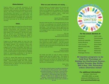 PARENTS UNITED - Oconomowoc Area School District
