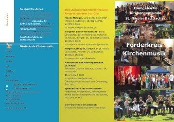 Förderkreis Kirchenmusik - Startseite   Kirchengemeinde St. Nikolai ...