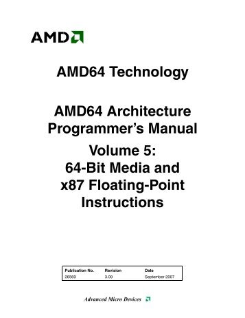 AMD64 Architecture Programmer's Manual, Volume 5: 64-Bit Media ...