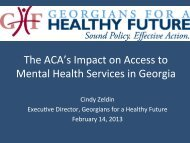 The ACA's Impact on Access to Mental Health Services in Georgia