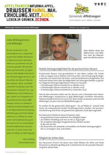 Mitteilungsblatt - Gemeinde Affeltrangen
