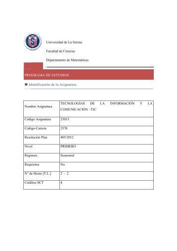 Programa de la Asignatura, con Fechas de Pruebas y Examen
