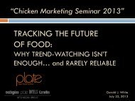 Food Trends are Rarely Reliable - National Chicken Council