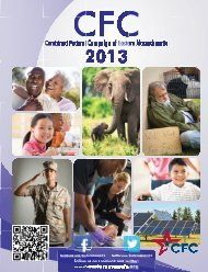 download 2013 cfc charity list - Combined Federal Campaign of ...