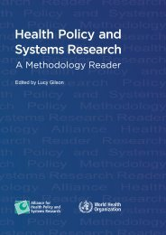 Health Policy and Systems Research: A Methodology Reader