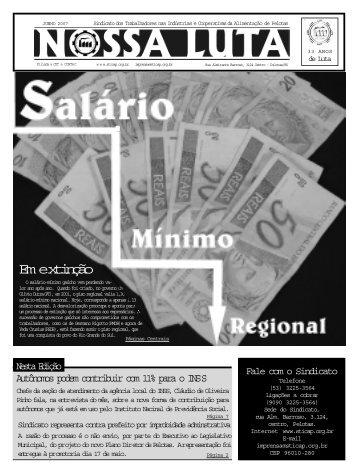 Jornal sticapjunho final.p65 - Sindicato dos Trabalhadores nas ...