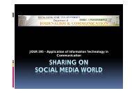 SHARING ON SOCIAL MEDIA WORLD