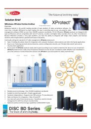 Milestone XProtect Active Archive - Moderntech.com.hk
