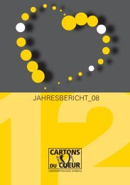 Jahresbericht 2008 - Cartons du Coeur