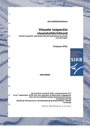Visuele inspectie vloeistofdichtheid - SIKB