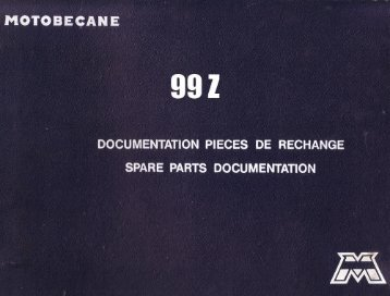 SPARE PARTS DOCUMENTATION - Motobécane Club de France