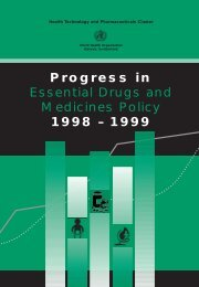 Progress in Essential Drugs and Medicines Policy ... - libdoc.who.int