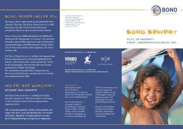 zum Flyer - BONO Direkthilfe eV