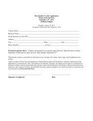 Merchandise Vendor Application - Mariners' Museum
