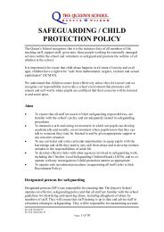 safeguarding / child protection policy - The Queen's School
