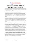 safeguarding / child protection policy - The Queen's School - Page 5