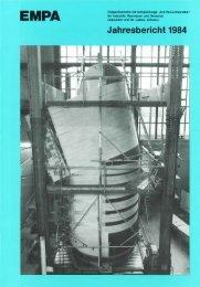 Jahresbericht 1984 - Eawag-Empa Library / Empa-Eawag Bibliothek