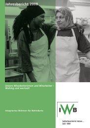 Jahresbericht 2008 - IWB Integriertes Wohnen für Behinderte