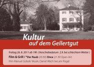 Film & Grill / *Der Raub - Gellertgut
