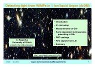Argon luminescence (ArDM experiment)
