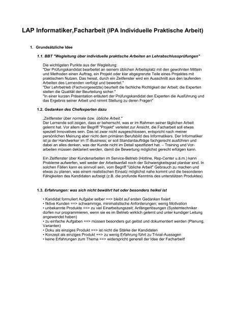 Lap Informatikerfacharbeit Ipa Individuelle Praktische Arbeit