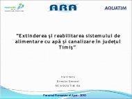 Extinderea şi reabilitarea sistemului de alimentare cu apă ... - Aquatim