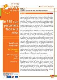 Conférence européenne 3 et 4 décembre 2009 - Fonds Social Européen ...