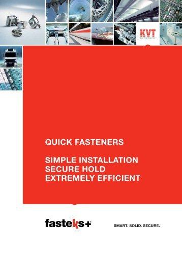FASTEKS+® Quick Fasteners | KVT-Fastening