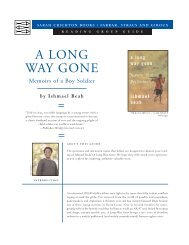 A LONG WAY GONE - Macmillan