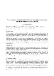 valutazioni numeriche e sperimentali dell ... - andreabracciali.it