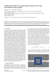 Tunable plasmonic filter and variable optical ... - IET Digital Library