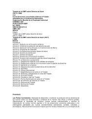 Tratado de la OMPI sobre Derecho de Autor (WCT) (1996) con las ...