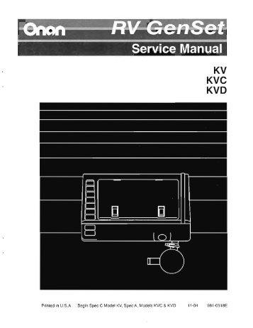 onan dgea parts manual
