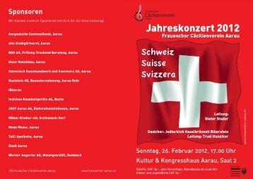 Jodlerklub Haselbrünneli Biberstein - Frauenchor Cäcilienverein ...