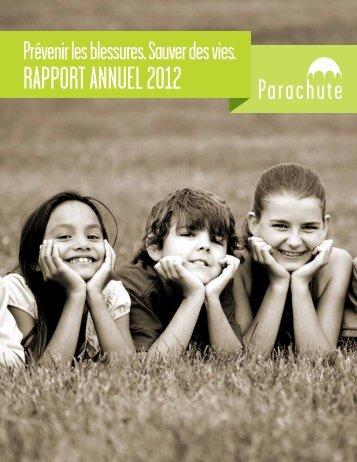 RaPPoRt annuel 2012 - Parachute
