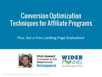 Conversion Rate Optimization - Affiliate Management Days