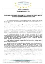 Programme Justice 2014 - 2020 ( 11 mai 2012 ) PDF - CNUE