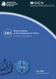 British Guideline on the Management of Asthma. (SIGN Guideline ...