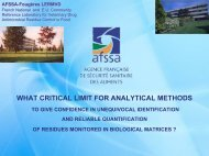 what critical limit for analytical methods - Community Reference ...