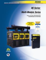 Multiplex Non Cycling Dryers Brochure - Compressed Air Equipment