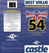 Thunderbird-54 User Guide - RCToys.com