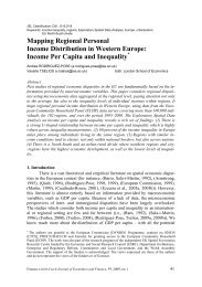 Mapping Regional Personal Income Distribution in Western Europe ...